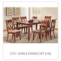 COS - GABLE DINING SET (1+6)